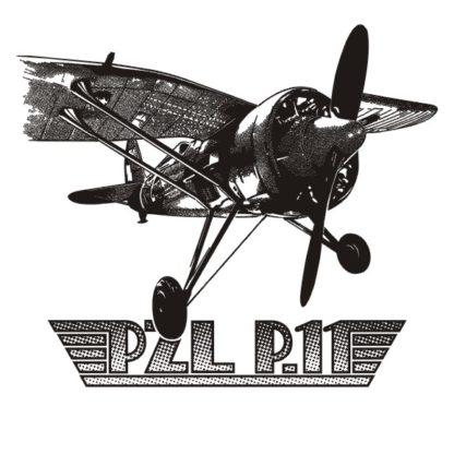 Koszulka myśliwiec PZL P11 biała