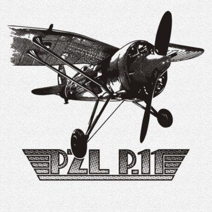 Koszulka myśliwiec PZL P11 popielaty